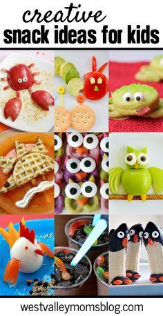Creative Snack Ideas for Kids | westvalleymomsblog.com