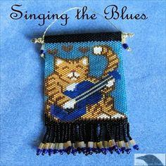 Singing the Blues Cat Peyote Chart - Item Number 15389