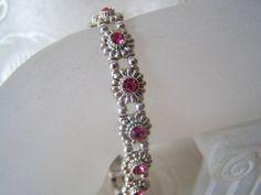 Vintage Swarovski Sliders with Pink by lindasoriginaljewels, $15.00