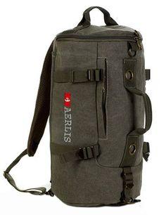 2016 Men's Multi-purpose Canvas Backpack Vintage Shoulder Bag Canvas Bagpack Bookbag Rucksack Schoolbag Laptop Travel Satchel