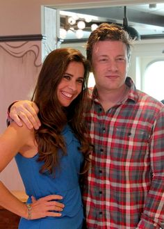 Chefs Devin Alexander and Jamie Oliver onboard #QuantumoftheSeas. #thischangeseverything