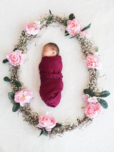Nebraska Newborn Photography Flowers Taylor Rae Photography #taylorraephotography