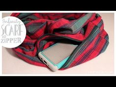 Infinity Scarf With Hidden Pocket | EASY How to | Whitney Sews - YouTube