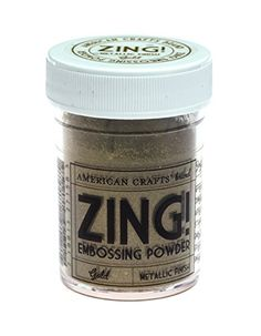 Zing! Metallic Embossing Powder, 1-Ounce, Gold *** Click image to review more details. (Note:Amazon affiliate link)