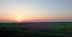 Sunset in Desert Land - Captured while traveling from Al Khor to Doha, Qatar!