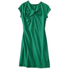 Mossimo® Petite Short-Sleeve Knot Front Ponte Dress - Assorted Colors.Opens in a new window