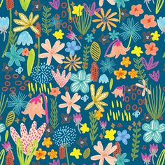 Tammie Bennett | Neon Garden | Surtex 2015 flyer | Make it in Design