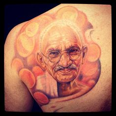 Ghandi Tattoo By Alexis Vaatete