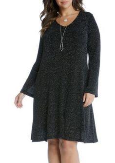 Karen Kane  Plus Size Diamond Dust Taylor Dress