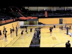Box Drill--attacking and digging cross court, with out of system setting also.