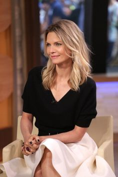 Michelle Pfeiffer promoting 'Malavita.' Styling by Samantha McMillen.