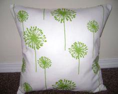 Green Dandelion Pillow Cover