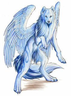 anime wolf with wings - Google Search