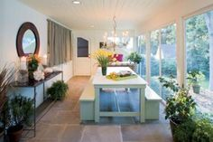 love the open look, floors, just a great space