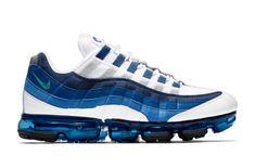 6c828e166996d nike vapormax 95 drop release date closer look colorway release september 6  2018 White New Green French Blue Lake Blue Obsidian sneaker shoe footwear  nsw ...