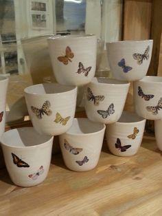 Butterflies on mugs