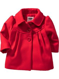 Oh my gosh!!! NEED!! The bow on the back is beyond adorable! Red dressy baby coat from Old Navy