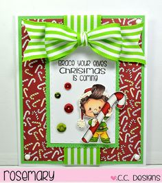Today I'm sharing my latest card for C.C. Designs  using one of the new stamps from the October Release called Roberto's Rascals ELVES Clea...