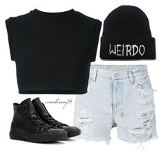 """""""Weirdo"""" by avonsblessing94 ❤ liked on Polyvore featuring Ksubi, Converse and adidas Originals"""