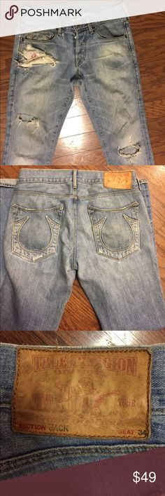 True Religion jeans True Religion jeans distressed authentic True Religion Jeans Straight
