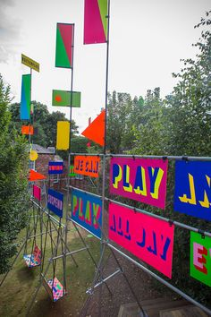 Morag Myerscough and Luke Morgan — Swing It! and Temple of Agape Installations