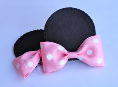 Minnie Mouse Ear Hair Clips (Set of 2). $10.00, via Etsy.