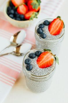 The BEST basic chia seed pudding recipe and info about the proper ratio of chia seeds to liquid. Start with this basic recipe and then experiment with your own variations to enjoy for breakfast, as a snack or dessert. Vegan, gluten-free, paleo and keto-fr Milk Recipes, Pudding Recipes, Keto Recipes, Cooking Recipes, Healthy Recipes, Healthy Meals, Best Chia Pudding Recipe, Cleanse Recipes, Eat Healthy