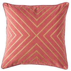Oo la la do we love this pillow! Sleek lines mimic a chevron-style pattern that is accompanied by a soft and comfortable feel. Place in any space for a contemporary feel!