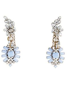 Pretty LuLu Frost for J.Crew earrings are a modern take on vintage estate gems