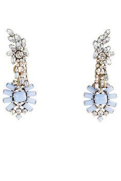Pretty LuLu Frost for J.Crew earrings are a modern take on vintage estate gems