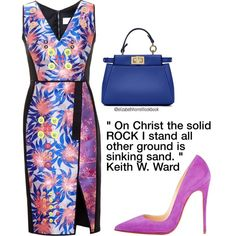 Liz by elizabethhorrell on Polyvore featuring polyvore fashion style Peter Pilotto Christian Louboutin Fendi