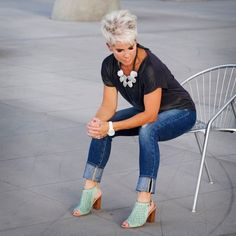 Chic Over 50.  Midlife chic over 40, Midlife chic outfits to inspire you.