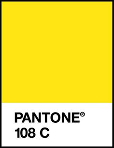 Pantone Yellow 108C