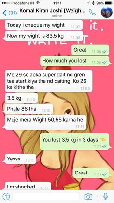 This time our Client Komal Kiran did it which is again shocking . She lost 3.5 kgs in just 3 days by following the Super diet plan. The best part is that she is trying her best to reach her goal of 55 kg. And the fact is She is going to achieve that in next 4 months the way she is going. Congratulation Komal.   If you are looking for Balanced Customized Diet Plan for yourself. We are here to help you. Call/ Whatsapp us @ +919953329177 for your healthy diet plan.