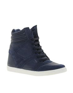 River Island Concealed Wedge High Top Trainers