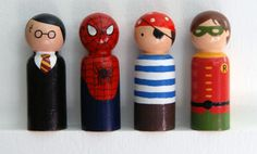 How cute are these little guys?? Little Wooden Characters