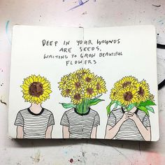 Beautiful art by The idea of plant roots digging deep into open wounds. Beautiful art by Bullet Journal Art, Wreck This Journal, Bullet Journal Inspiration, Journal Quotes, Journal Pages, Journal Ideas, Arte Van Gogh, Kunstjournal Inspiration, Frida Art