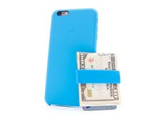 Blue NadaWallet and iPhone The NadaWallet is a revolutionary cash and card holder designed to do away with your old, bulky wallet. Durable and trendy, the Nada Wallet features a patented design that keeps your cash and cards secure and more accessible than ever before.