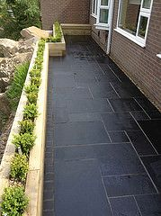 raised beds sleepers on paving - Google Search
