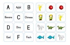 krabbelwiese: Gezinkte Memos zur Buchstabenerkennung