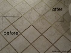 Easy and cheap way to get your grout looking brand new. No demo and renovating required! The dirty grout miracle cure www.houseofhepworths.com