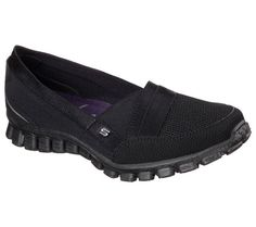 It's your destiny to look great and feel amazing wearing the SKECHERS EZ Flex 2.0 - Quipster shoe. Woven soft mesh fabric, and 3D printed smooth synthetic upper in a slip on sporty casual skimmer sneaker with stitching and overlay accents. Air Cooled Memory Foam insole.<br/><br/>