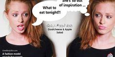 QUICK FOOD VLOG || Goatcheese & Apple Salad
