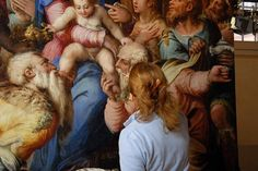 Santa Croce Monumental Building. Bosco Marengo. Giorgio Vasari. The adoration of three Magi.