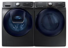 Washers and Dryers - Samsung 5.2 Cu. Ft. Front-Load Washer and 7.5 Cu. Ft. Electric Dryer – Black Stainless Steel