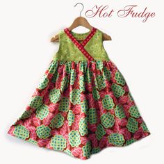Crossover Party Dress Tea Rose Size 5 by HotFudge on Etsy, $50.00