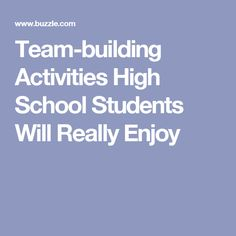 """Use team building activities at your school to liven up meetings or break the ice in the classroom. According to Business Week, """"the team building activity must build on specific strengths and . High School Activities, Stem Activities, Classroom Activities, Team Building Exercises, Team Building Activities, Ice Breakers, Back To School, School Stuff, High School Students"""