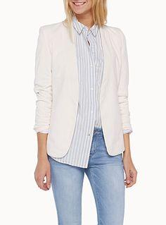 Supple minimalist jacket | Simons