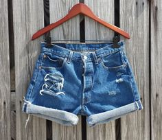 Vintage LEVI 501 Button Fly Jean Shorts  HIGH by TomieHarlene, $18.50