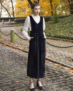 """""""Black Velvet Jumpsuit #ootd #pixiemarket @fionabriseno"""""""